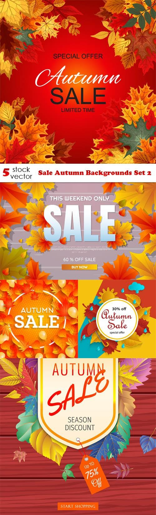 Sale Autumn Backgrounds Set 2 ((aitff (11 files)
