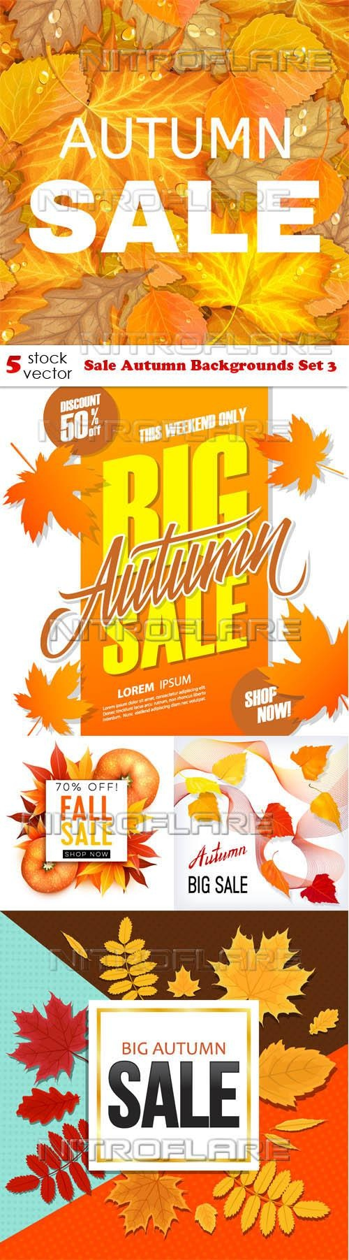 Sale Autumn Backgrounds Set 3 ((aitff (9 files)