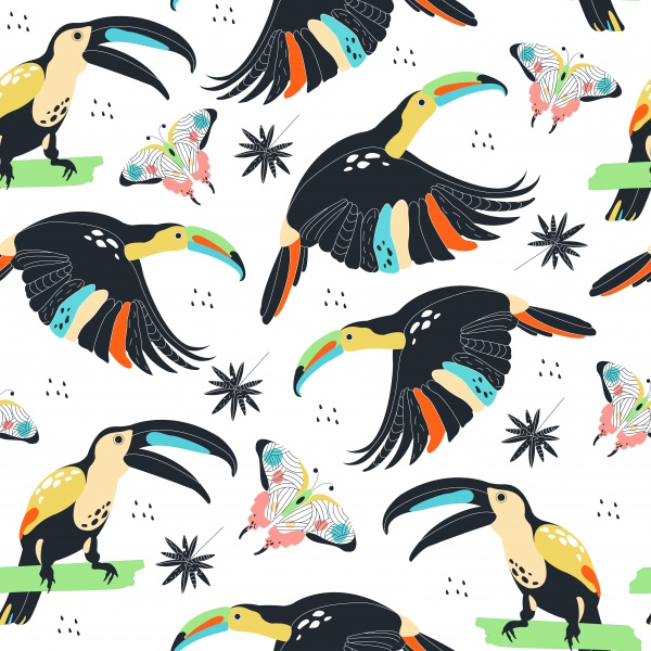 Seamless zoo patterns ((eps (24 files)