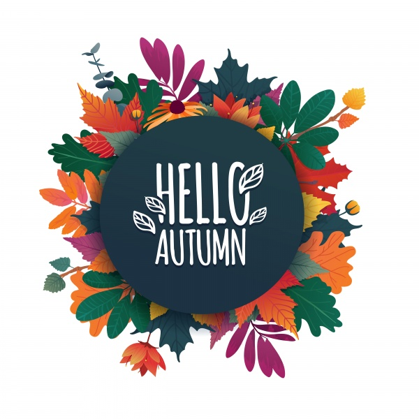 Set autumn vector bubbles, design banner with autumn sale and discount card ((eps (22 files)