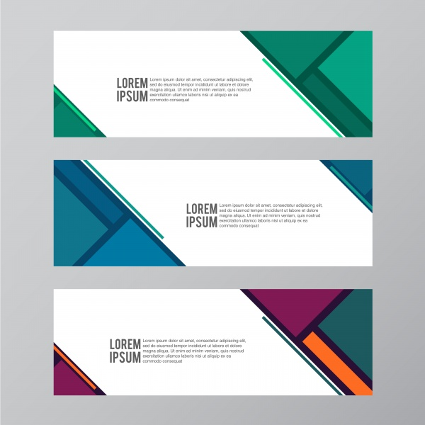 Set of abstract colorful vector banner background ((eps (32 files)