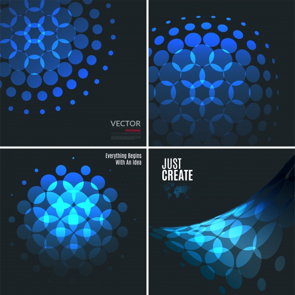 Set of abstract vector design elements for graphic layout, modern business template ((eps (32 files)
