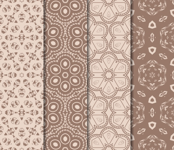 Set of beautiful vector seamless pattern with transformed geometric shape ((eps (18 files)