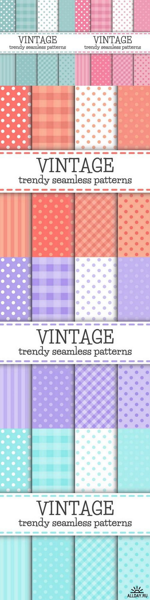Set of Polka dot and Trendy patterns ((eps (6 files)
