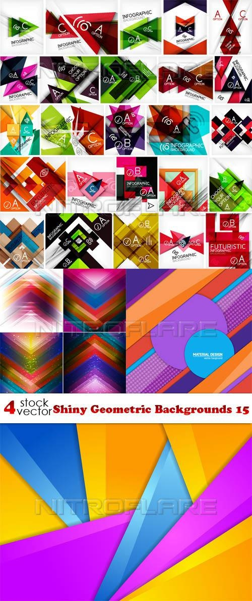 Shiny Geometric Backgrounds 15 ((aitff (8 files)
