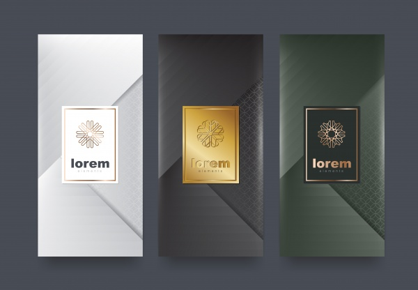 Stylish templates for cosmetic products packaging ((eps (18 files)