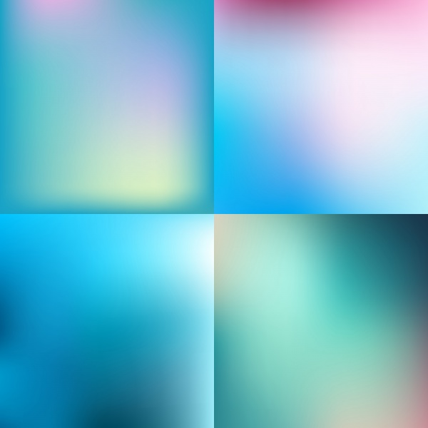 Sweet vector color blurred background set, pastel color design ((eps (39 files)