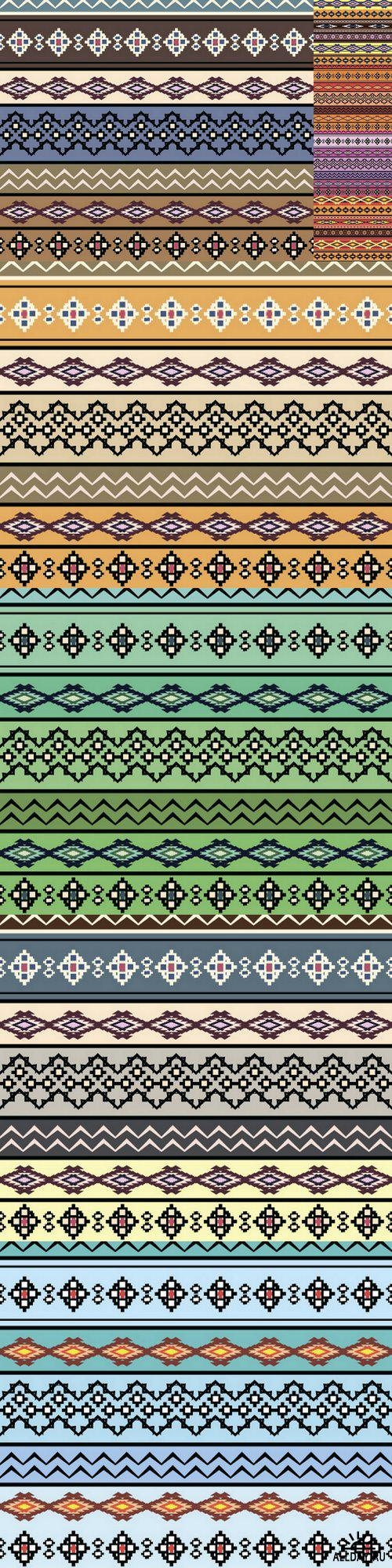 Tribal art boho seamless pattern ((eps (10 files)