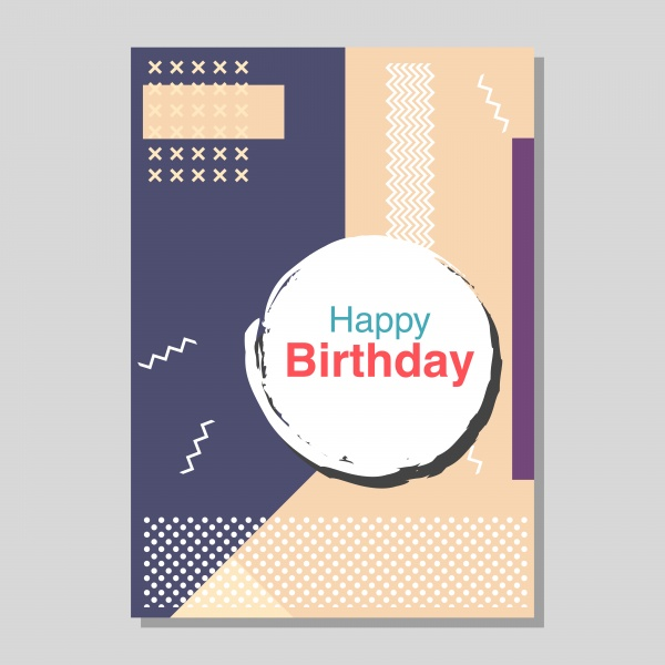 Vector birthday party flyers templates ((eps (38 files)