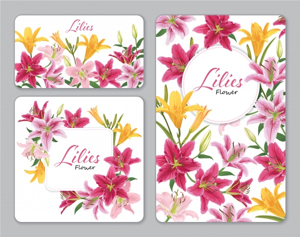 Vector design elements with beautiful flowers ((eps (18 files)