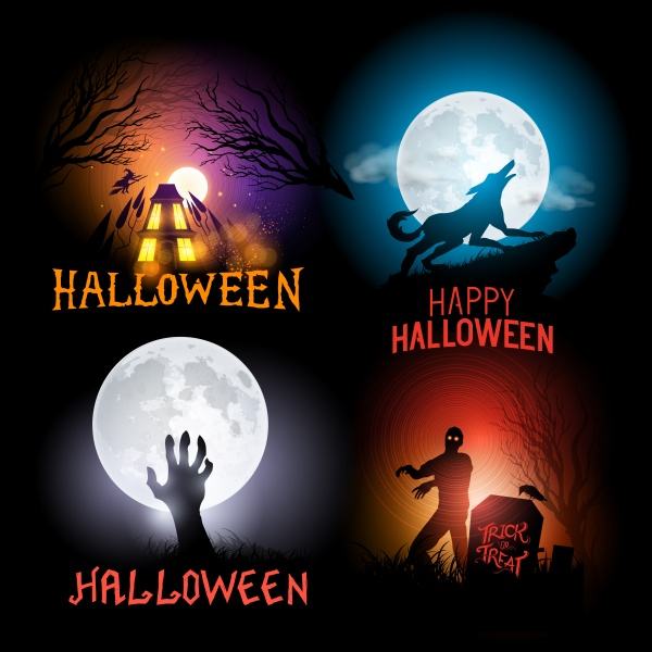 Vector Halloween Collection ((eps (24 files)