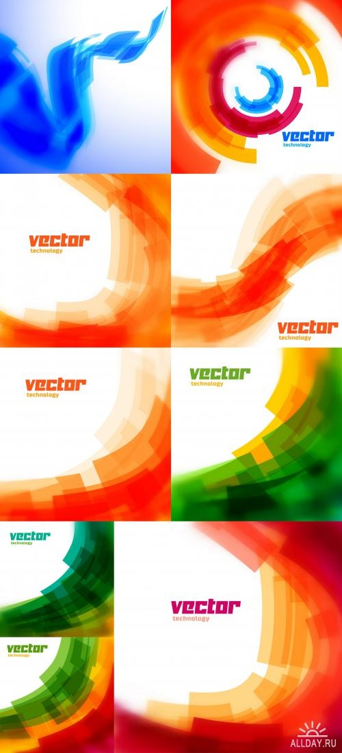Vector technology background ((eps (10 files)