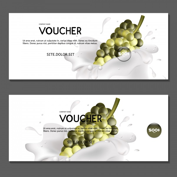 Vector vouchers with autumn leaves and grapes ((eps (22 files)