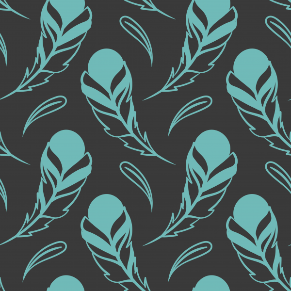 10 Feathers Seamless Patterns ((ai (12 files)