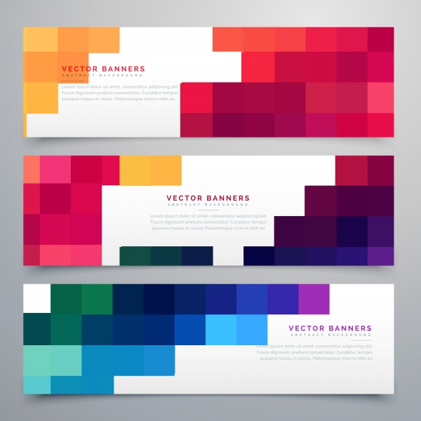 Abstract geometric vector banners set ((eps (32 files)