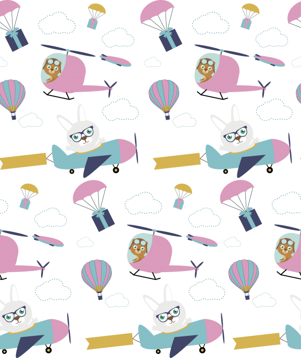 Air Baby illustration pattern ((eps ((ai (26 files)