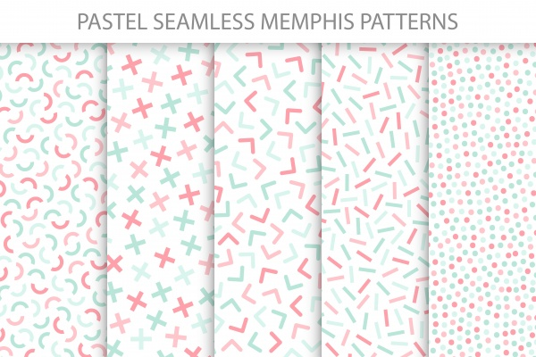Colorful delicate seamless patterns ((eps ((png (24 files)