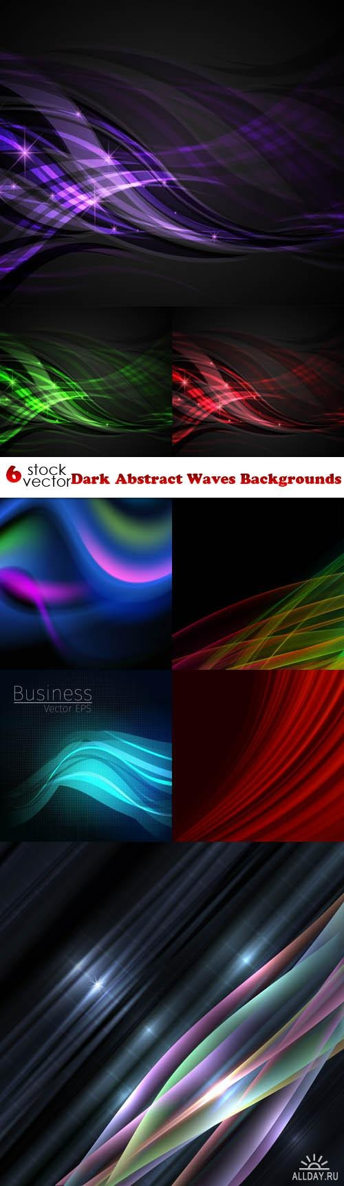 Dark Abstract Waves Backgrounds ((aitff (13 files)