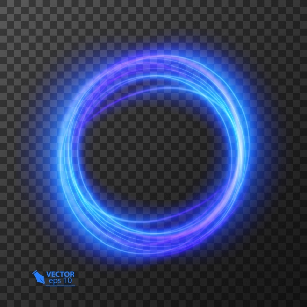 Abstract vector magic glow star light effect with neon curved lines, sparkling dust star trail with bokeh ((eps - 2 (24 files)