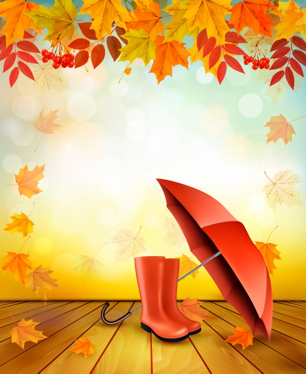 Autumn vector background with fruit and leaves, autumn sale banners ((eps (12 files)
