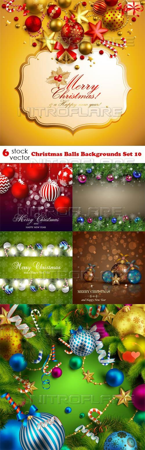 Christmas Balls Backgrounds Set 10 ((aitff - 2 (5 files)