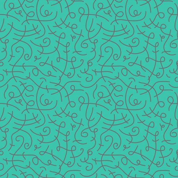 Curly hand drawn seamless patterns ((eps (16 files)