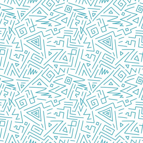 Curly hand drawn seamless patterns ((eps - 2 (12 files)