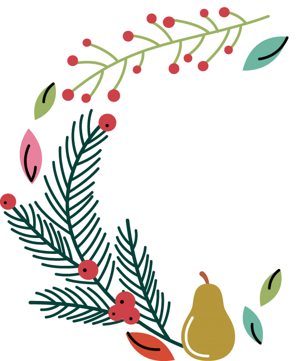 Floral Christmas Bundle ((eps ((png (206 files)