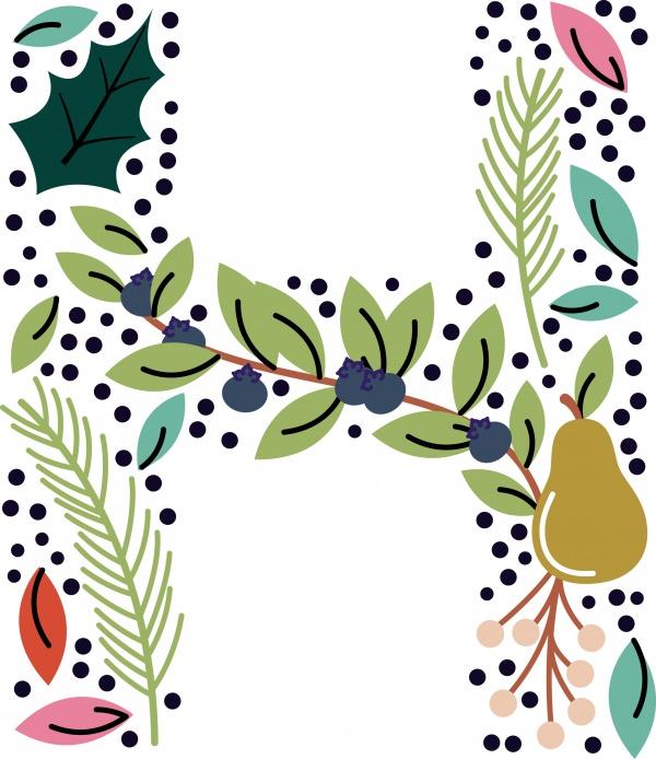 Floral Christmas Bundle ((eps ((png - 3 (150 files)
