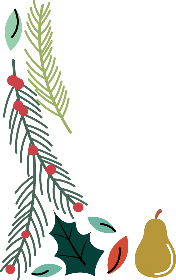 Floral Christmas Bundle ((eps ((png - 3 (150 files)