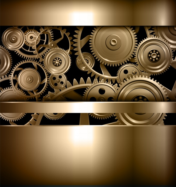 Gears background, teamwork and precision concept ((eps (32 files)