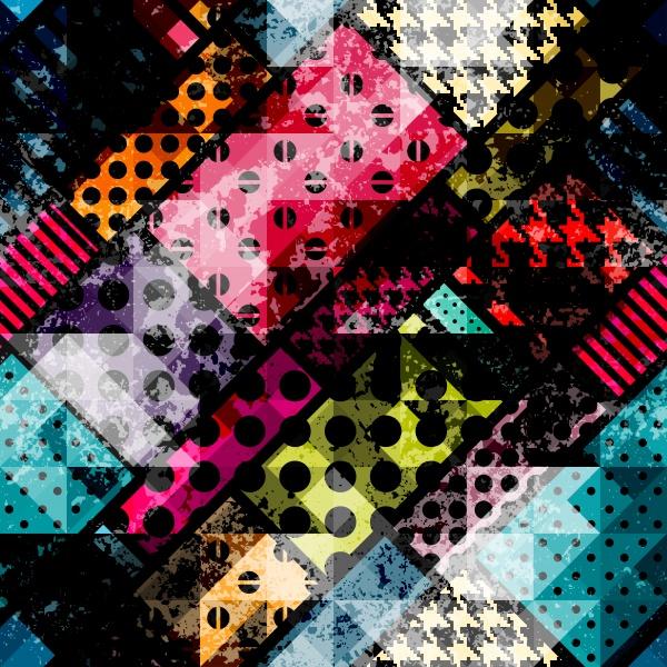 Grunge ethnic pattern ((eps (26 files)
