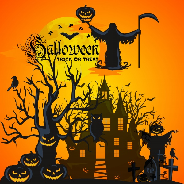 Halloween background 2 ((eps (50 files)
