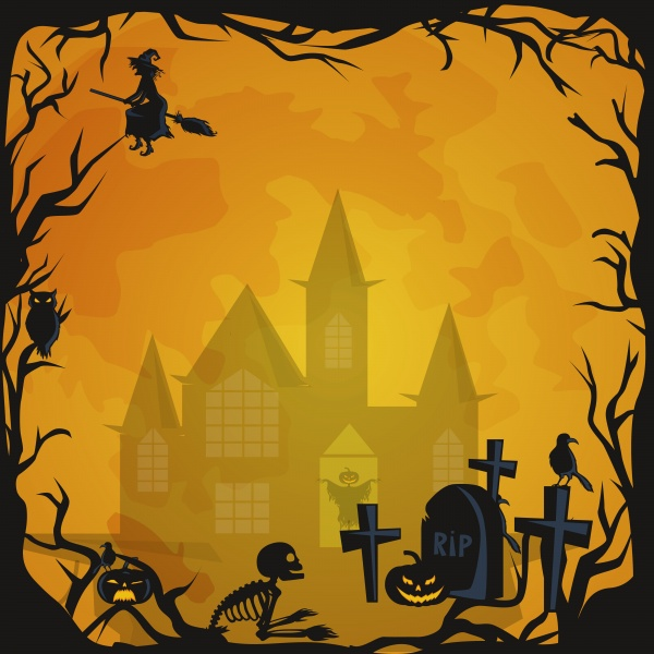 Halloween background 2 ((eps - 2 (52 files)