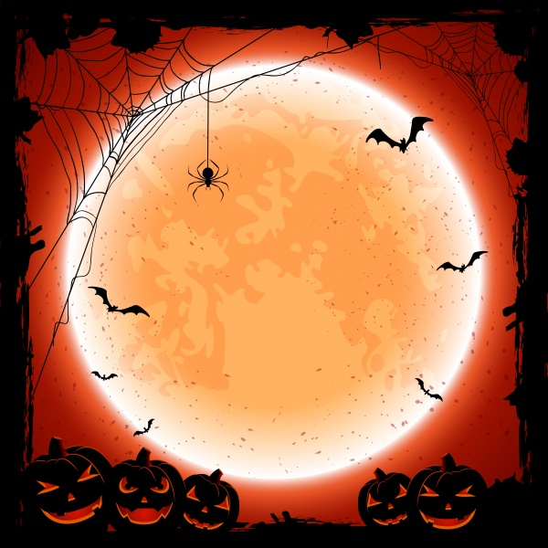 Halloween with spiders and cobwebs ((eps (20 files)