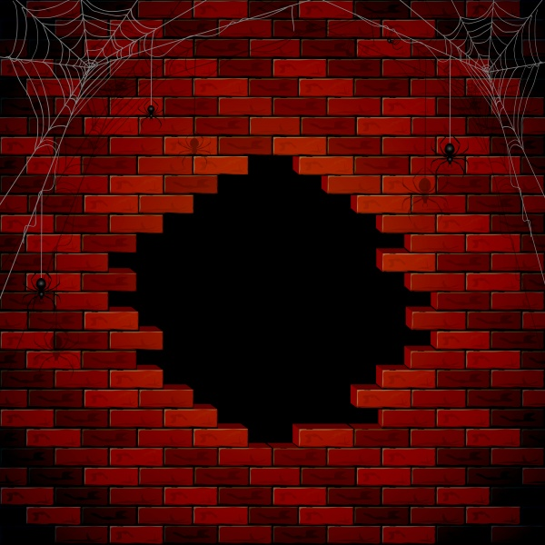 Halloween with spiders and cobwebs ((eps - 2 (20 files)