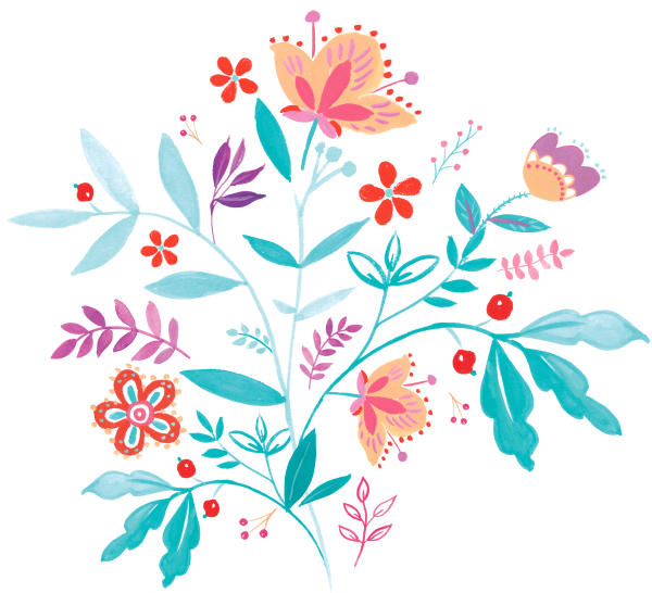 Handpainted Floral Clipart Set Anita ((eps ((png ((ai (126 files)