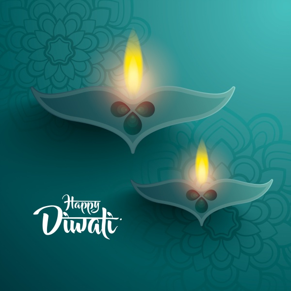 Happy diwali, traditional indian diya oil lamp ((eps - 2 (26 files)