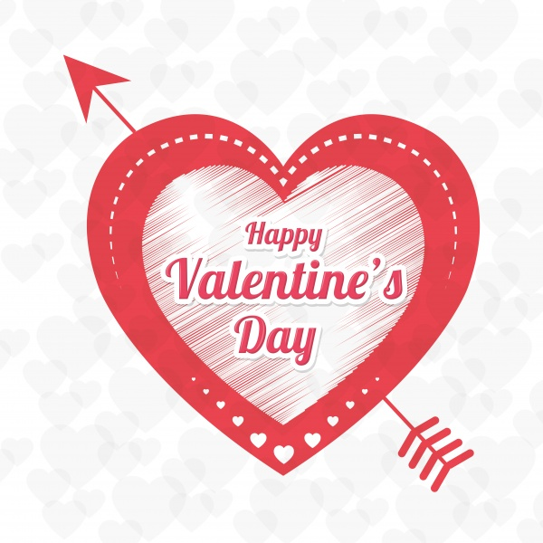 Happy valentines day card vector illustration design ((eps - 2 (56 files)