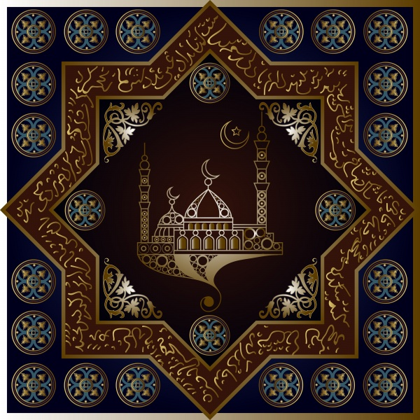 Islamic decorative vector background, invitation, flyer, poster, banner, card, label ((eps - 2 (12 files)