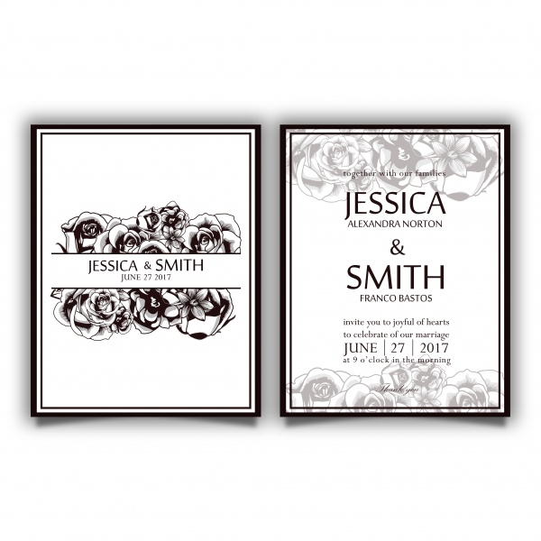 Luxury vector wedding invitation card ((eps - 3 (10 files)