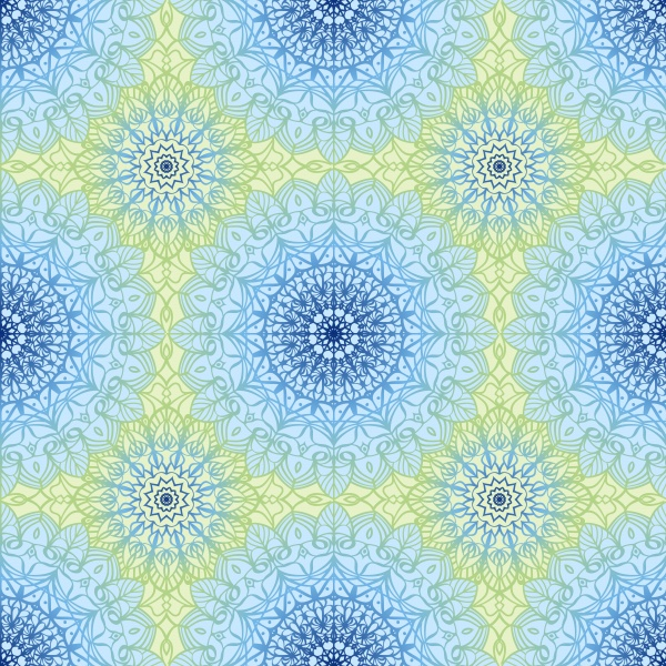Seamless vector pattern with mandala ((eps (8 files)