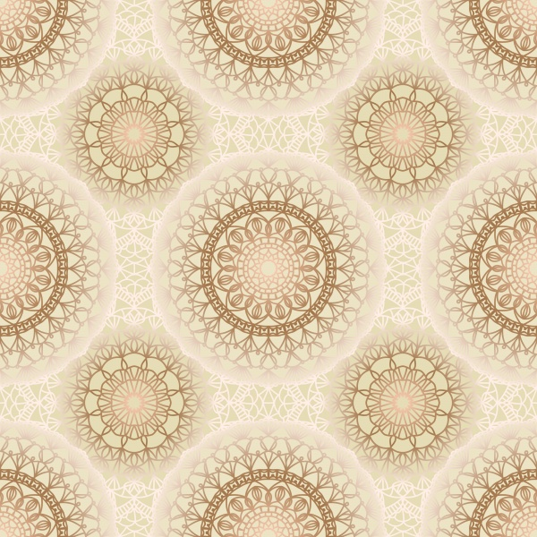 Seamless vector pattern with mandala ((eps - 2 (10 files)