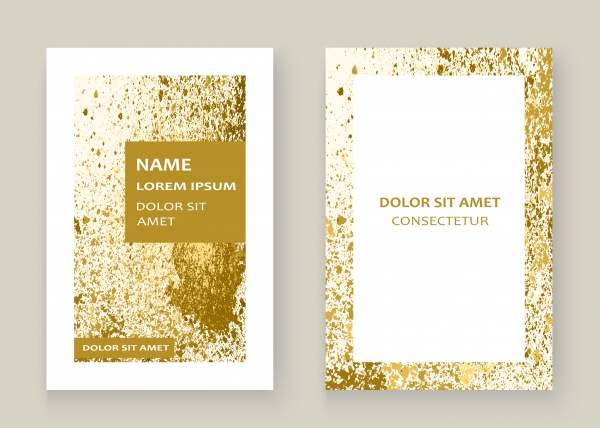Trendy vector with gold paint splash template for flyer ((eps (16 files)
