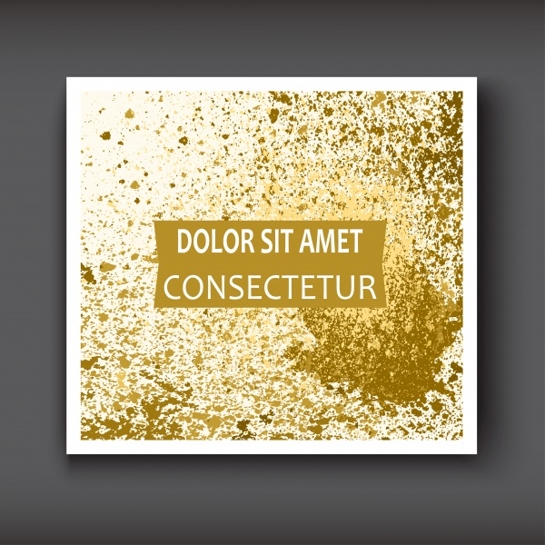 Trendy vector with gold paint splash template for flyer ((eps - 2 (16 files)