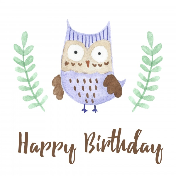 Watercolor Owls patterns and cards ((eps ((png - 2 (8 files)