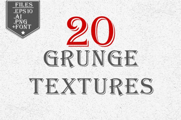 20 Grunge Textures Bundle ((eps ((ai (38 files)