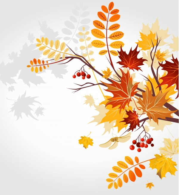 Autumn background is a picture poster flyer banner leaf tree 2 ((eps (22 files)