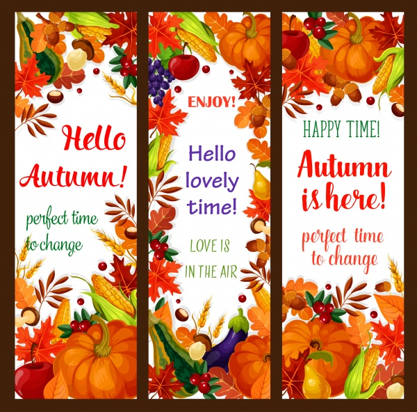 Autumn sale vector banner set of fall season discount price offer ((eps - 2 (28 files)