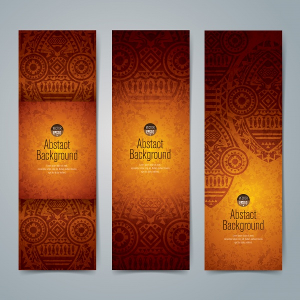 Background image is an African theme flyer banner poster ((eps - 2 (26 files)